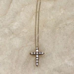 Sterling Silver Swarovski Dainty Cross Pendant